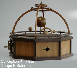 Comic book item in wood - Orrery of the dark worlds